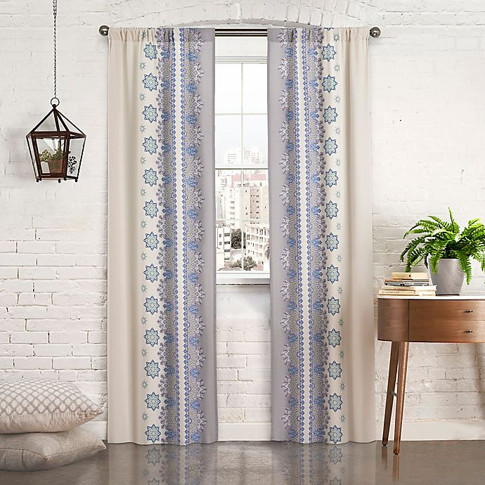 Alternate image 1 for Pairs to Go™ Mantra 63-Inch Rod Pocket Window Curtain Panel Pair in Blue