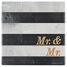 "Thirstystone® ""Mr. and Mr."" Stripes Single Square Coaster"