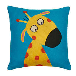 Amity Home Funny Giraffe Square Throw Pillow