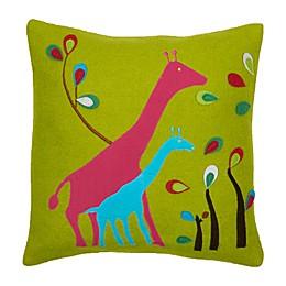 Amity Home Giraffe Square Throw Pillow