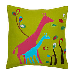 Amity Home Giraffe Square Throw Pillow