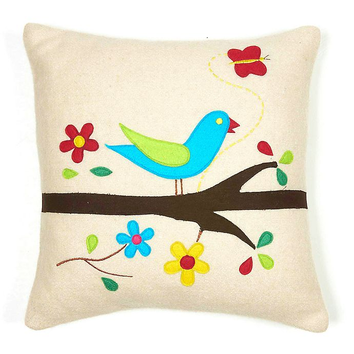 Alternate image 1 for Amity Home Bird Square Throw Pillow