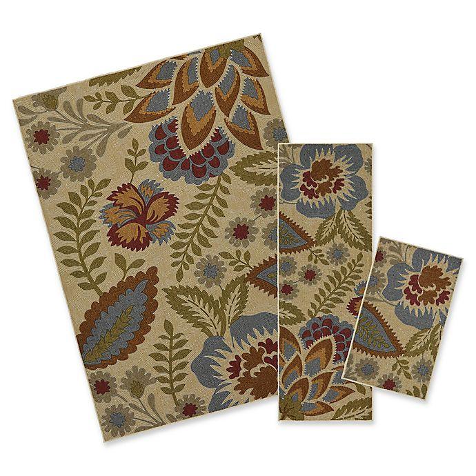 Alternate image 1 for Mohawk Home® Crewel Floral Spice 3-Piece Multicolor Rug Set