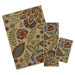 Mohawk Home® Crewel Floral Spice 3-Piece Multicolor Rug Set