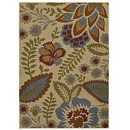 Mohawk Home® Crewel Floral Spice 5-Foot x 7-Foot Multicolor Area Rug