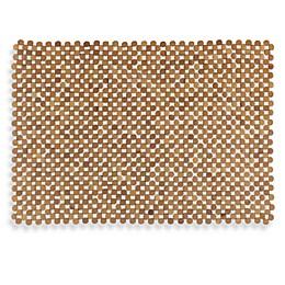Mosaic Bamboo Mahogany Tub Mat