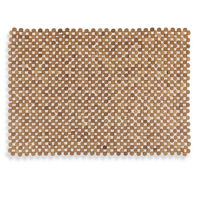 Alternate image 1 for Mosaic Bamboo Mahogany Tub Mat