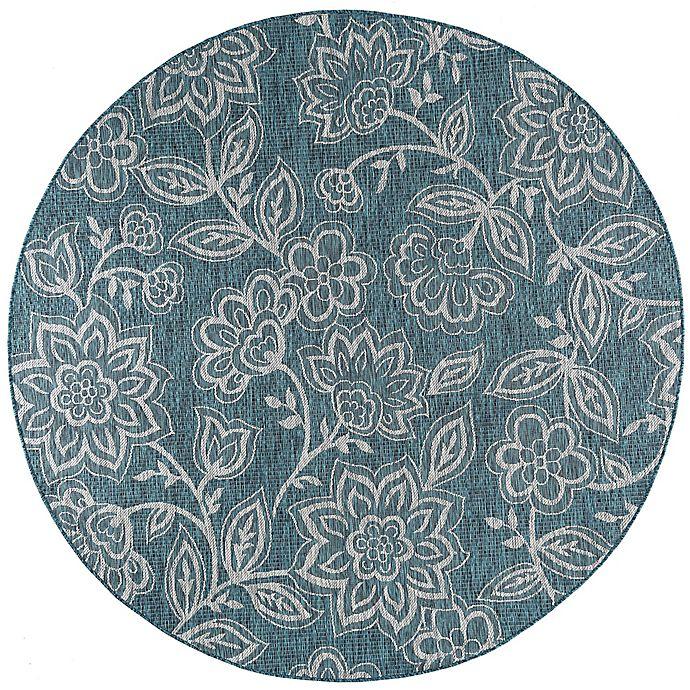 Buy Tayse Rugs Veranda Floral Indoor/Outdoor 7-Foot 10
