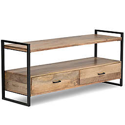 Riverside Mango Wood TV Stand in Natural