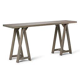 Simpli Home Sawhorse 66-Inch Wide Console Sofa Table