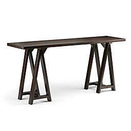 Simpli Home Sawhorse 66-Inch Wide Console Sofa Table