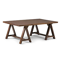 Simpli Home Sawhorse 48-Inch Coffee Table