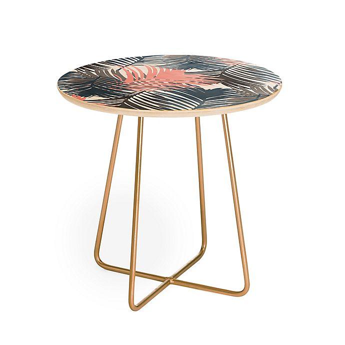 Alternate image 1 for Deny Designs Emanuela Carratoni Jungle Round Side Table in Pink