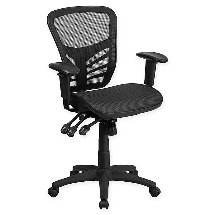Alternate image 1 for Flash Furniture Mid-Back Mesh Chair in Black