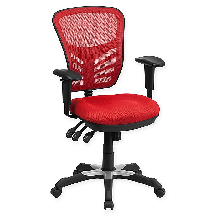 Alternate image 1 for Flash Furniture Mid-Back Mesh Chair in Red