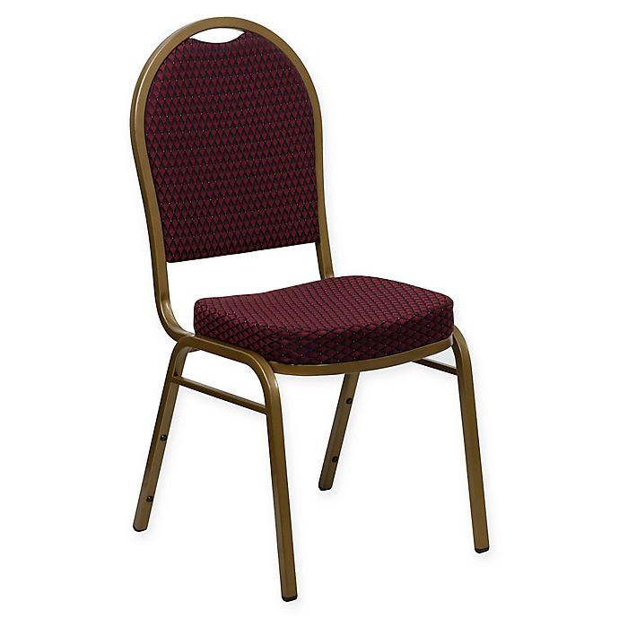 Alternate image 1 for Flash Furniture Dome Back Banquet Chair Burgundy