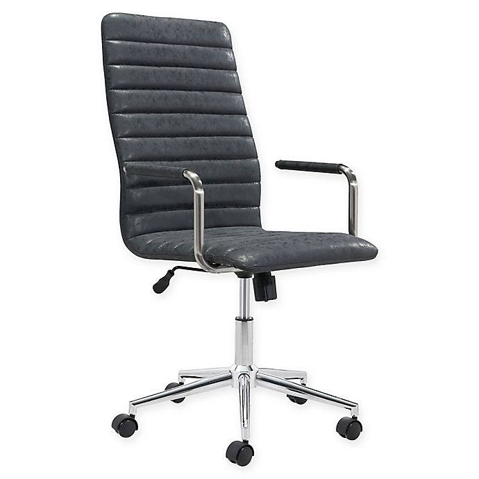 Strange Zuo Modern Faux Leather Swivel Office Chair In Black Bed Evergreenethics Interior Chair Design Evergreenethicsorg