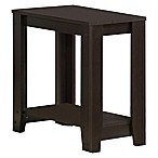 Monarch Specialties 22-Inch Side Table in Cappuccino