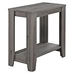 Monarch Specialties 22-Inch Side Table in Grey