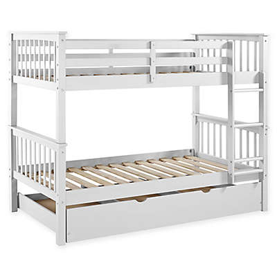 Forest Gate Charlotte Solid Wood Twin Bunk Bed with Trundle