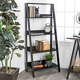 "Forest Gate 55"" Modern Wood Ladder Bookshelf"