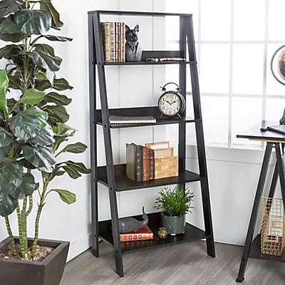 "Forest Gate 55"" Modern Wood Ladder Bookshelf"