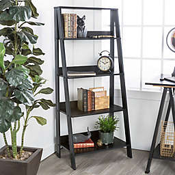 Forest Gate 55 Modern Wood Ladder Bookshelf