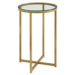 Forest Gate 16-Inch Round Side Table in Gold