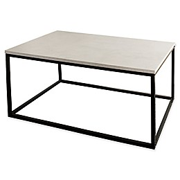 Forest Gate 42-Inch Mixed Media  Faux Marble Coffee Table