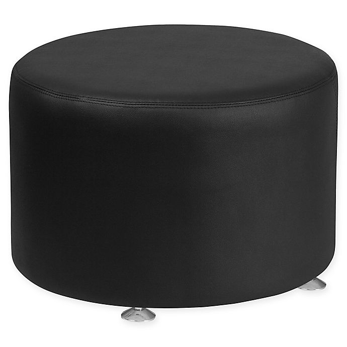 Strange Flash Furniture Round Faux Leather Ottoman Bed Bath Beyond Gmtry Best Dining Table And Chair Ideas Images Gmtryco