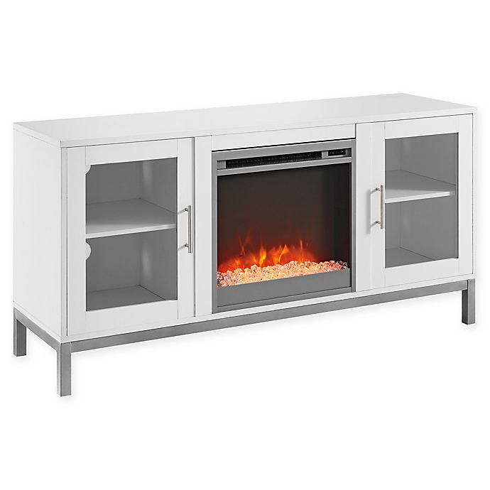 Forest Gate 52 Quot Grayson Modern Wood Fireplace Tv Console
