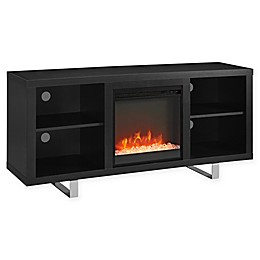 Forest Gate Simple Modern 58-Inch Fireplace TV Console