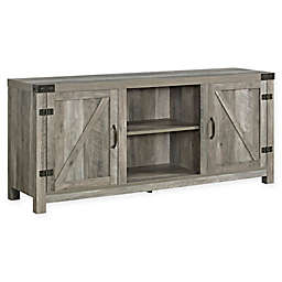"Forest Gate 58"" Wheatland Farmhouse Wood Barndoor TV Stand"