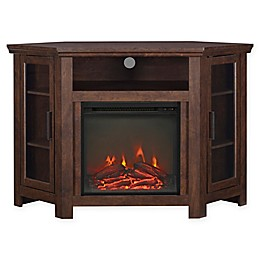 """Forest Gate 48"""" Noah Traditional Corner Fireplace TV Stand"""