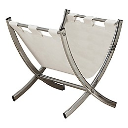 Monarch Specialities Faux Leather Magazine Rack