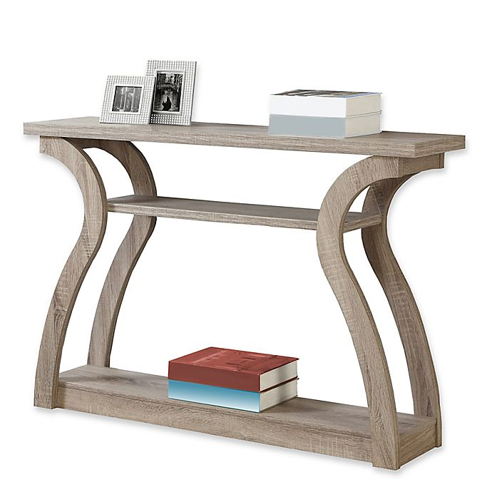 Monarch Specialties 3 Tiered Curved Console Table: Monarch Specialties 47-Inch Hall Console Table