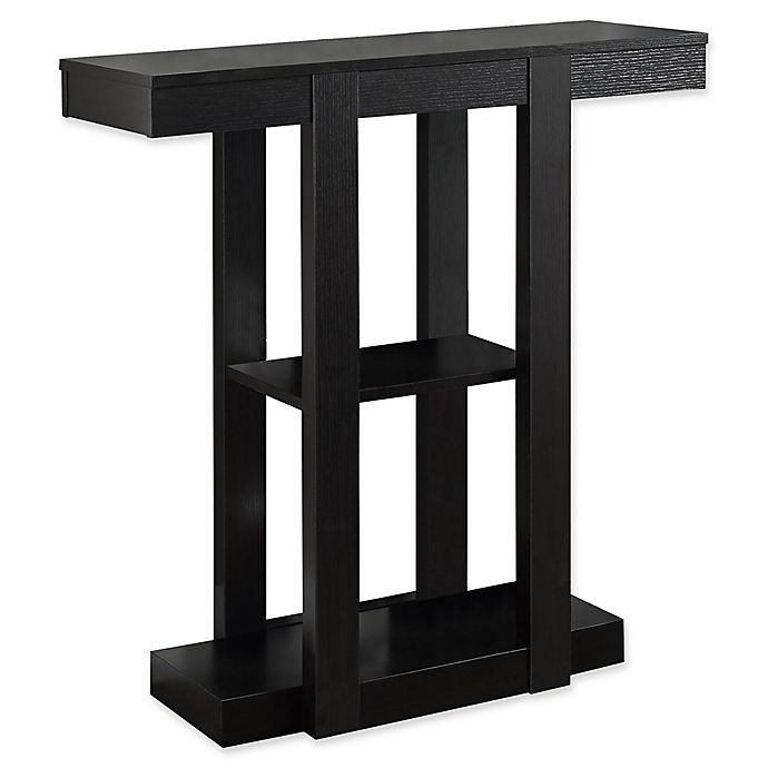 Alternate image 1 for Monarch Specialties 32-Inch 3-Tiered Hall Console Table in Cappuccino