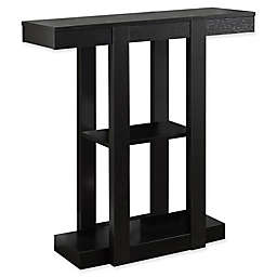 Monarch Specialties 32-Inch 3-Tiered Hall Console Table in Cappuccino