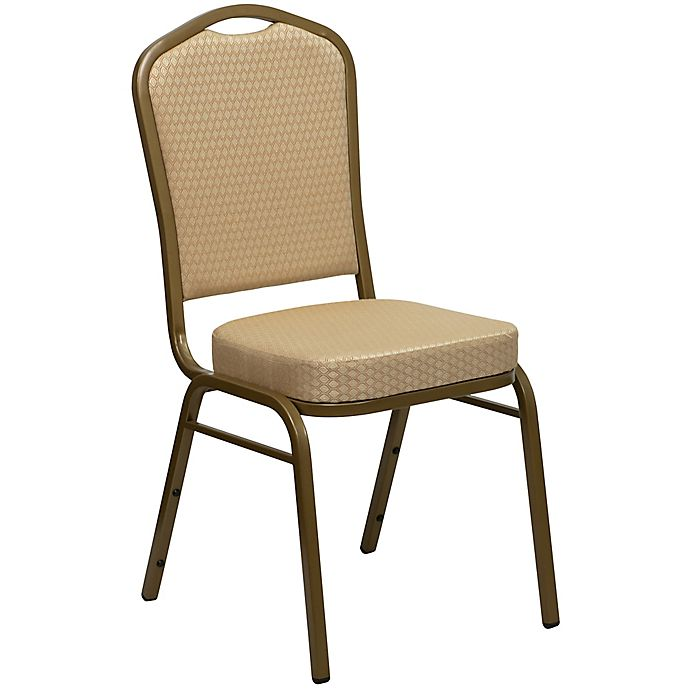 Alternate image 1 for Flash Furniture Crown Back Banquet Chair in Gold