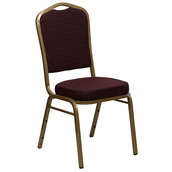 Alternate image 1 for Flash Furniture Crown Back Banquet Chair in Burgundy