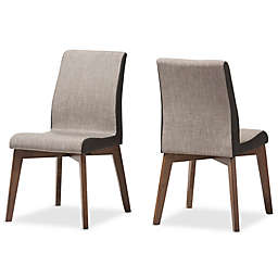 Baxton Studio Kimberley Dining Side Chair in Beige/Brown
