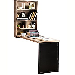 The Rustic Home Wall-Mounted Fold Away Desk