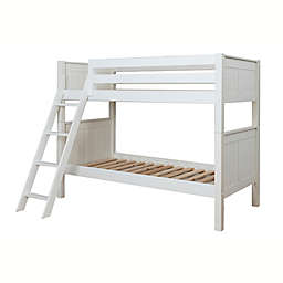 NUI&KIDS Classic Two-Over-Twin Combo Bunk Bed in White