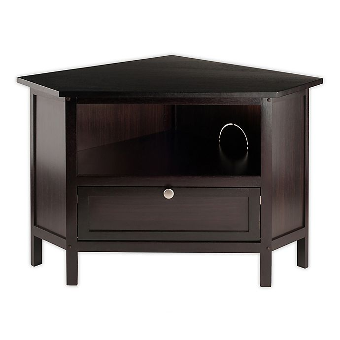 Winsome Zena Corner Tv Stand In Espresso Bed Bath And Beyond Canada