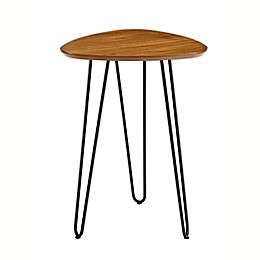 "Forest Gate 18"" Harlow Mid-Century Modern Hairpin Wood Side Table in Walnut"