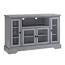 Forest Gate Highboy Wood TV Console in Antique Grey