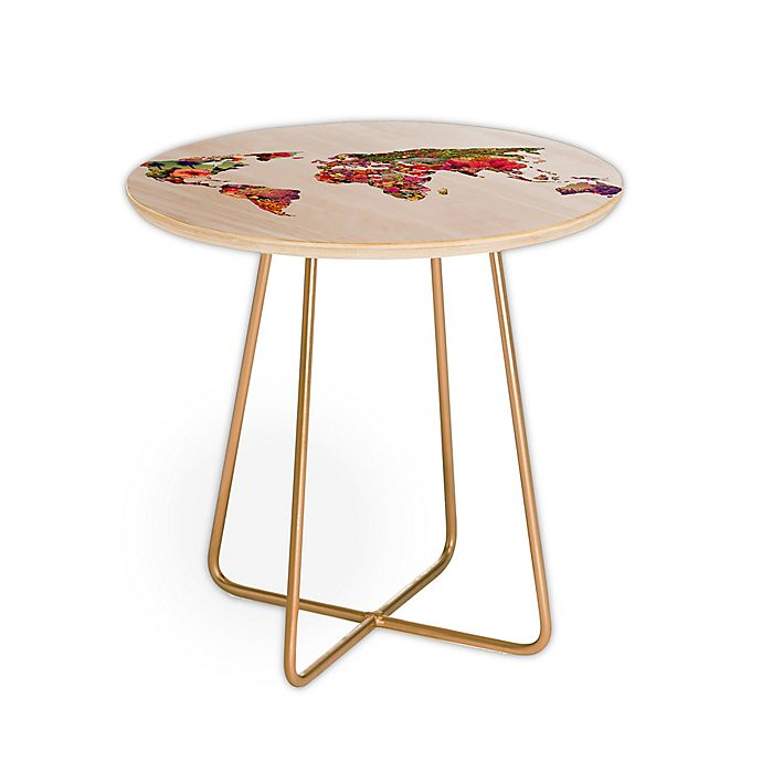 Alternate image 1 for Deny Designs Bianca Green It's Your World Side Table in Red