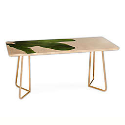 Deny Designs Catherine McDonald Tropical Leaves Coffee Table in Green
