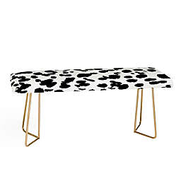 Deny Designs Amy Sia Animal Spot Bench in Black/White