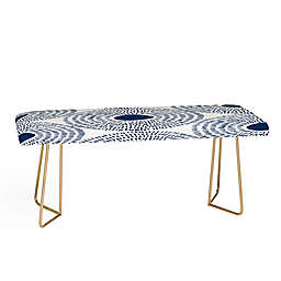 Deny Designs Camilla Foss Circles II Bench in Blue